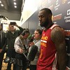 LeBron James during a q&a session at shootaround