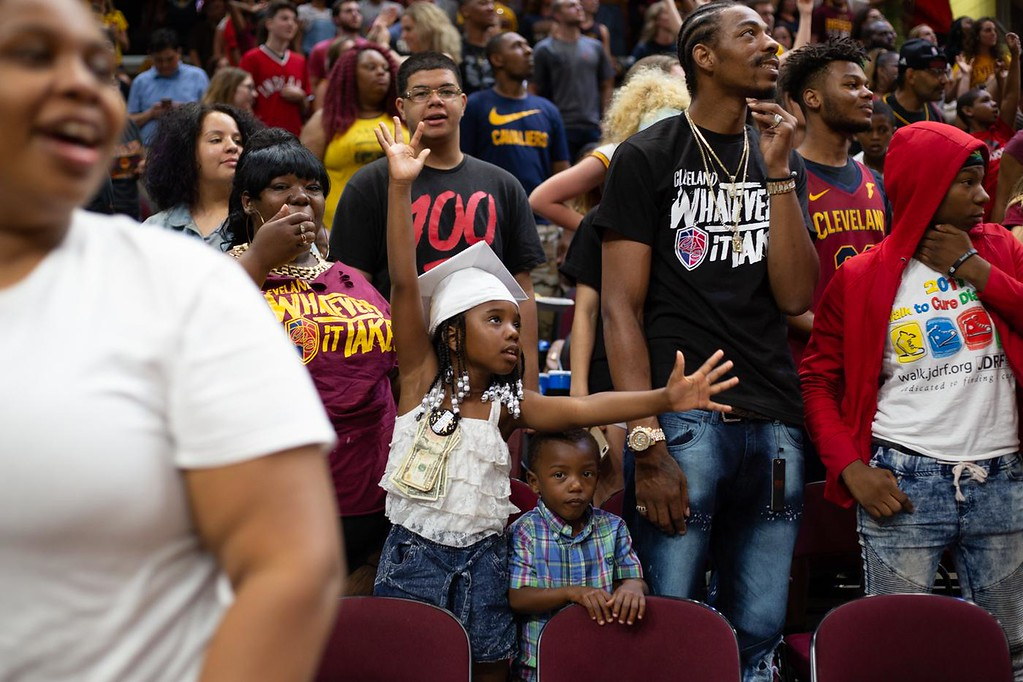 . Michael Johnson - The News-Herald Scenes from the Cavaliers watch party on May 31, 2018.