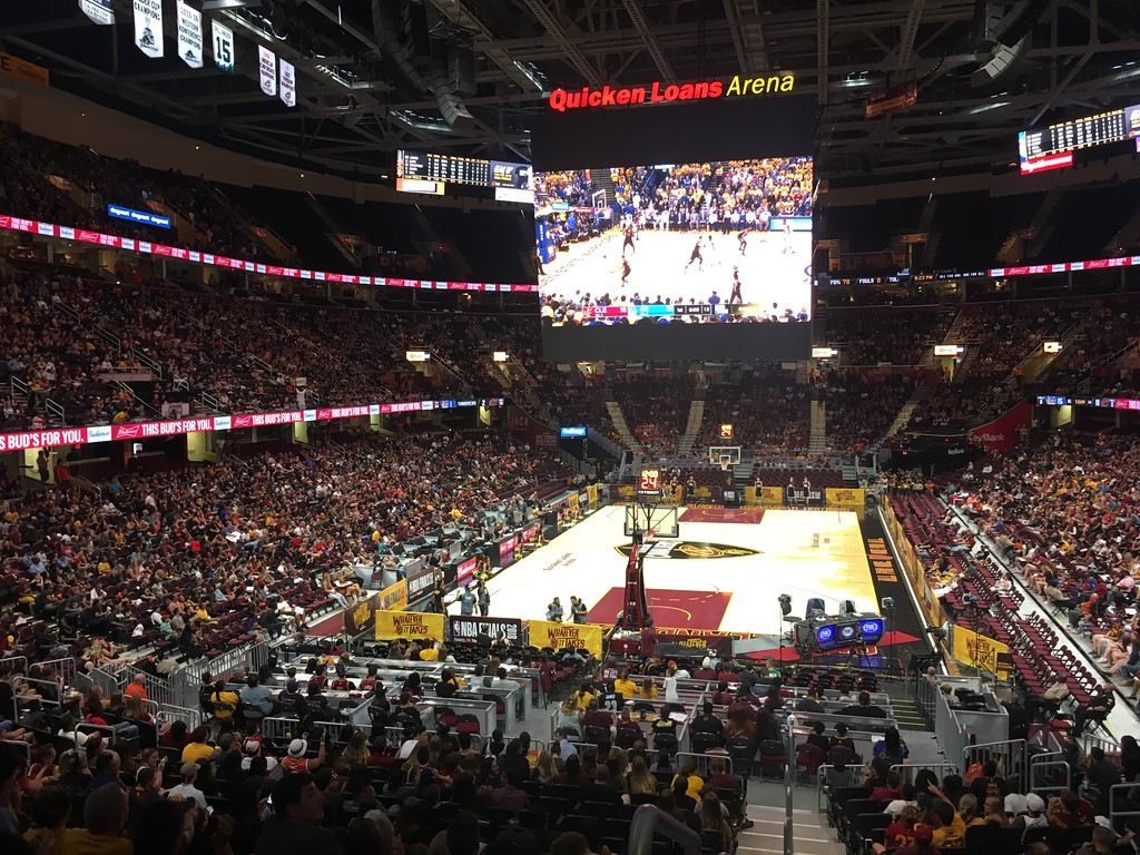 . Arena view, Game 1 Watch Party. David S. Glasier - The News-Herald
