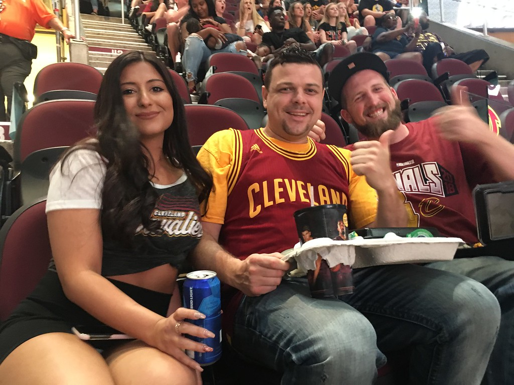 . Young fans, Game 1 Watch Party, The Q. David S. Glasier - The News-Herald
