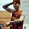 Jon Behm - The Morning Journal<br /> Native Cleveland rapper Machine Gun Kelly made a surprise appearance at the Cavaliers Championship Parade and helped provide the soundtrack.