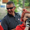 Jon Behm - The Morning Journal<br /> A member of the Ohio State Marching Band reacts to meeting Buckeyes' football coach Urban Meyer prior to the Cavaliers Championship Parade on June 22.