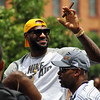 Jon Behm - The Morning Journal<br /> LeBron James waves to fans during the Cavaliers Championship Parade on June 22.