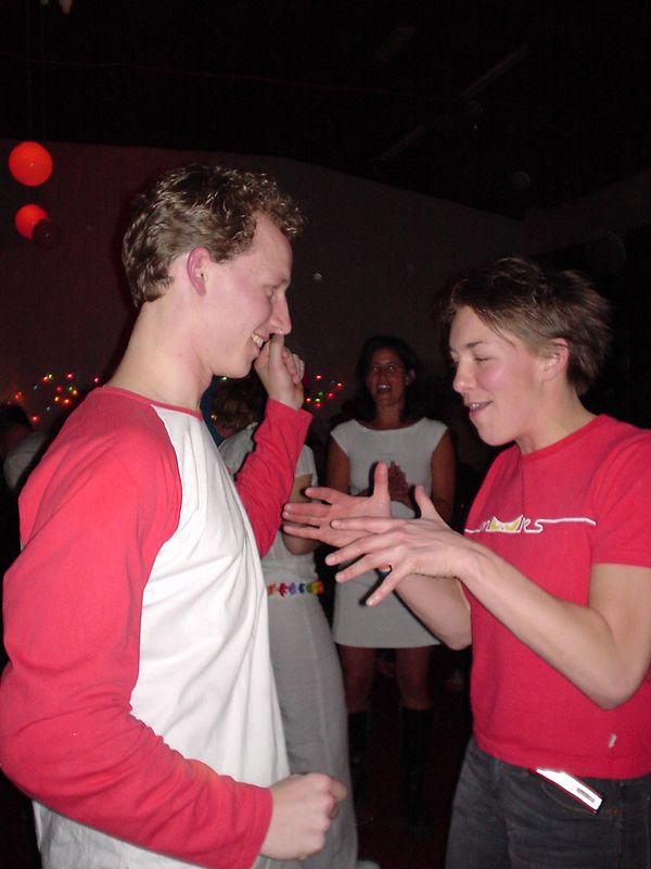 Nan geeft dansles... of krijgt het...