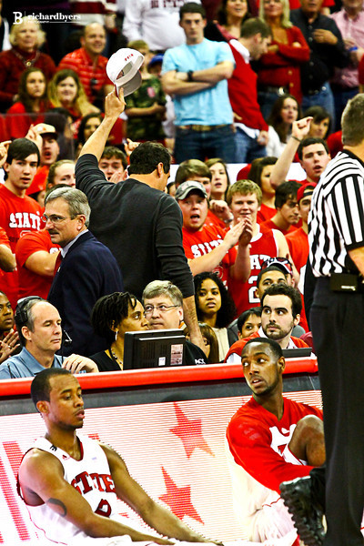 The ejection - NC State vs. Florida State - Tom Gugliotta and Chris Corchiani (not shown) where thrown out by ref Karl Hess.