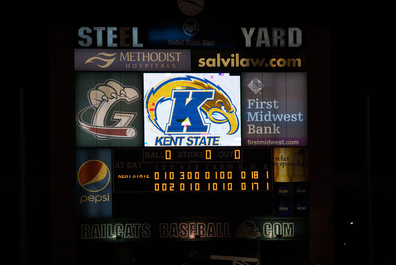 Kent State vs. Kentucky - June 1, 2012 Gary, Steelyard - Home of the Railcats Second Longest Game in NCAA Tournament History 21 Innings - Kent State Wins 7-6