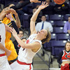 Central Missouri guard and former Mankato West basketball standout Preston Brunz reaches up for a rebound during a NCAA Division II Central Region basketball game against Arkansas Tech Saturday at Bresnan Arena. Pat Christman