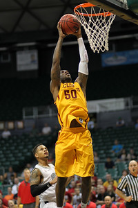 Iowa State guard Deandre Kane (50) yams it against Akron at the Diamond Head Classic on December 23, 2013, in Honolulu, Hawaii. Kane was a 6-5 grad transfer from Marshall who was named a finalist for the Naismith college player of the year. He was named third team All-American by the Sporting News but went undrafted in the 2014 NBA draft.