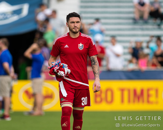 North Carolina FC goalkeeper Austin Guerrero (30)