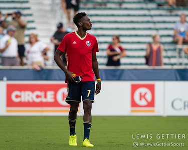 North Carolina FC forward Donovan Ewolo (7)