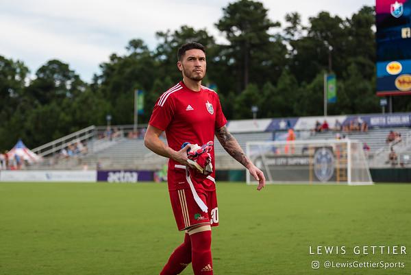 North Carolina FC goalkeeper Austin Guerrero (30)
