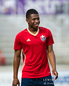 North Carolina FC midfielder Dre Fortune (8)