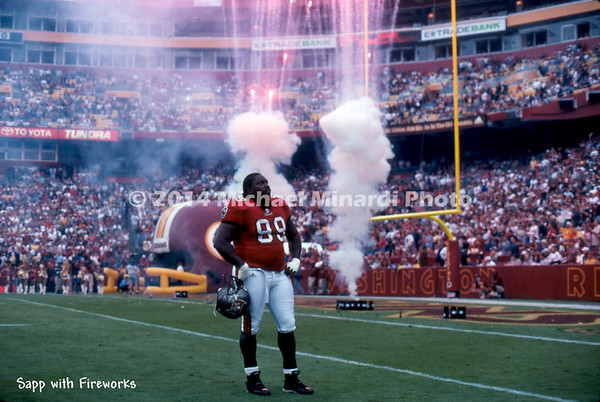 Sapp with fireworks