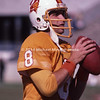 TAMPA, FL - September 15: QB Steve Young #8 of the Tampa Bay Buccaneers practiced with his teammates before a preseason NFL game at Tampa Stadium on September 15, 1985 in Tampa, Florida. Vikings won 31 to 16. (Photo by Michael J. Minardi) *** Local Caption *** Steve Young