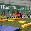 "Young fans compete and test their running back skills at the ""NFL Rush Zone Training Camp"" challenge"