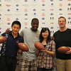 "Kordell Stewart with winners from City Weekend's ""Meet Kordell Stewart"" reader contest"