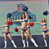 New England Patriots Cheerleaders perform for the crowds