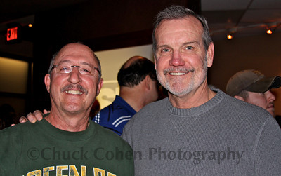 Larry McCarren, the Packers radio game day color announcer and former Packers player with friend