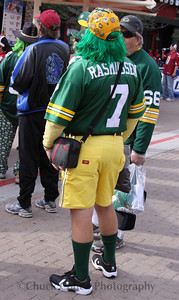 One stunning Packer Cheesehead is game ready!