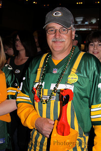 A Packer fan shows his team loyalty