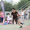 NFL Home Field Guangzhou - Week 9 - Event attendee goes through a drill at the Running Back (RB) Challenge