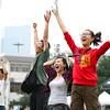 NFL Home Field Guangzhou - Week 9 - Fans celebrate a touchdown during the Guangzhou City Finals