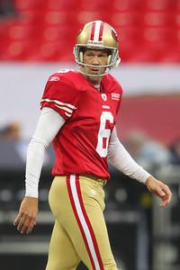San Francisco 49er's  sf06 joe nedney during the NFL International Game at Wembley Stadium 31 Oct 2010