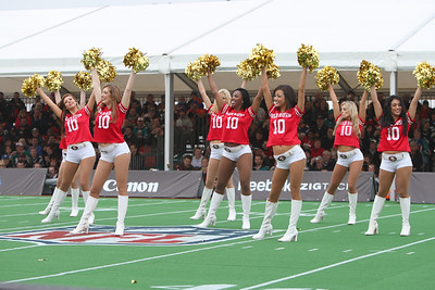 San Francisco 49er Gold Rush Cheerleaders perform at the NFL International Game at Wembley Stadium 31 Oct 2010