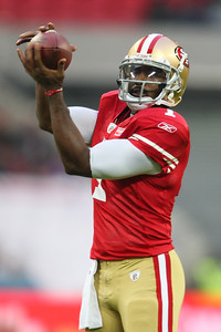 San Francisco 49er's Troy Smith (1) during the NFL International Game at Wembley Stadium 31 Oct 2010