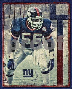 Vintage New York Giants Lawrence Taylor LT Poster