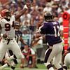 NFL Raven pass by Tony Banks