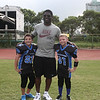 NFL All-Pro running back, LaDainian Tomlinson, with fans at the 2012 Nike Festival of Sport
