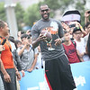 LeBron James stops by the NFL Zone at the 2012 Nike Festival of Sport