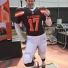 Browns fan Aaron Cunningham of Akron (Mark Podolsk)