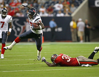 August 28, 2008 - The Houston Texans finished their preseason with a 16-6 loss to the Tampa Bay Buccaneers at Reliant Stadium in Houston.