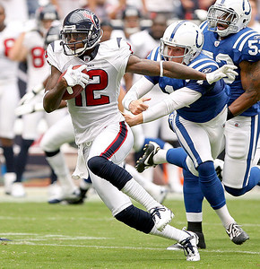 September 12, 2010- The Houston Texans open their 2010 season with a 34-24 win over the Indianapolis Colts.