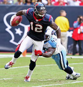 November 28 2010 - Jacoby Jones returns a punt in the second half. The Houston Texans defeated the Tennessee Titans 20-0 at Reliant Stadium.