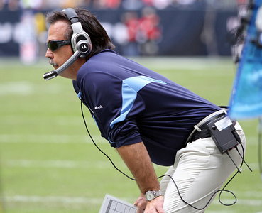 November 28 2010 - Tennessee Titans head coach Jeff Fisher watches his team struggle from the sidelines. The Houston Texans defeated the Titans 20-0 at Reliant Stadium.