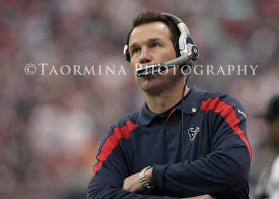 Jan 07, 2012; Houston, TX, USA; Houston Texans head coach Gary Kubiak watches from the sideline during the second quarter of the 2011 AFC wild card playoff game against the Cincinnati Bengals at Reliant Stadium. Mandatory Credit: Troy Taormina-US PRESSWIRE