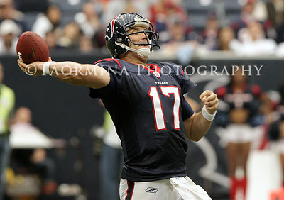 January 01, 2012; Houston, TX, USA; Houston Texans quarterback Jake Delhomme (17) throws a pass in the fourth quarter against the Tennessee Titans at Reliant Stadium. The Titans defeated the Texans 23-22. Mandatory Credit: Troy Taormina-US PRESSWIRE
