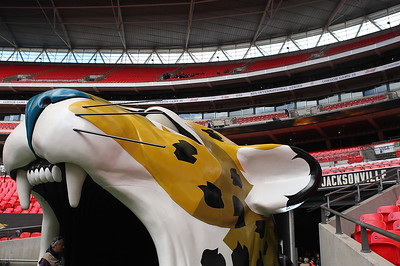 General View of the NFL International Series match between Indianapolis Colts and Jacksonville Jaguars at Wembley Stadium on October 2, 2016 in London, England.