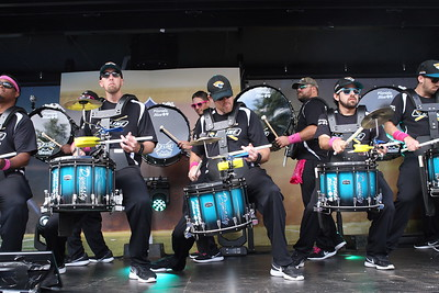 FEEL THE BEAT with the official drumline of the Jacksonville Jaguars. The D-Line  performs ahead of the NFL International Series match between Indianapolis Colts and Jacksonville Jaguars at Wembley Stadium on October 2, 2016 in London, England