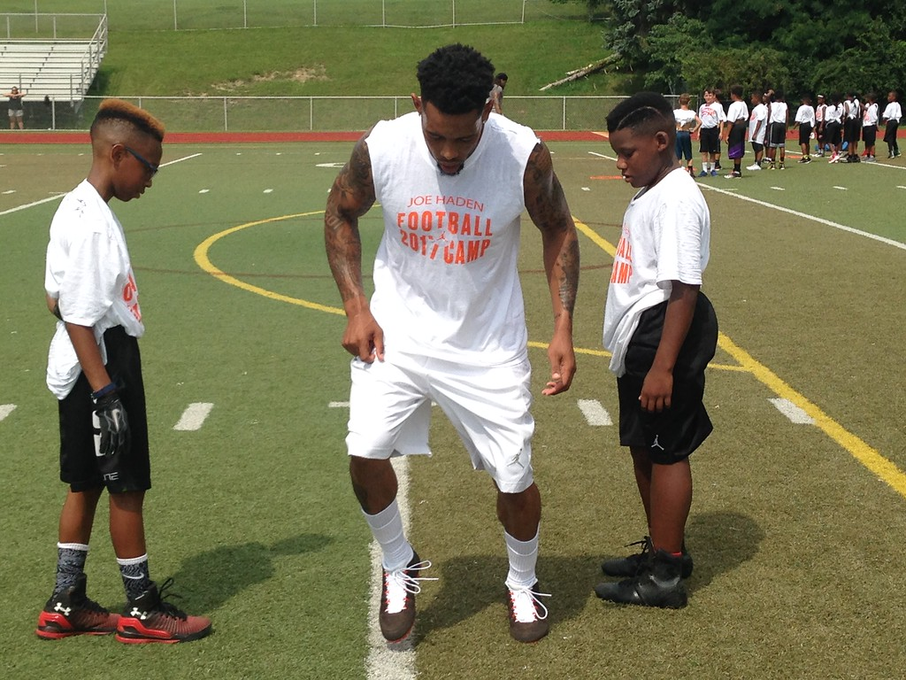 . John Kampf - The News-Herald Scenes from Cleveland Browns DB Joe Haden\'s Skills Academy at University School in Hunting Valley on July 21.