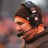 Michael Allen Blair/ MBlair@21st CenturyMedia.com<br /> Browns head coach Rob Chudzinski can hardly bare to watch after an interception thrown by his quarterback Brandon Weeden during the fourth quarter of Sunday's Steelers' 27-11 Steelers' victory at FirstEnergy Stadium in Cleveland, OH. on November 24, 2013.