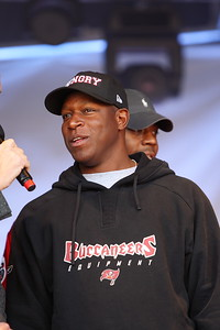 Raheem Morris the head coach for the Tampa Bay Buccaneers