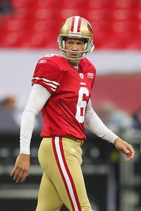 San Francisco 49er's sf09 joe nedney  during the NFL International Game at Wembley Stadium 31 Oct 2010