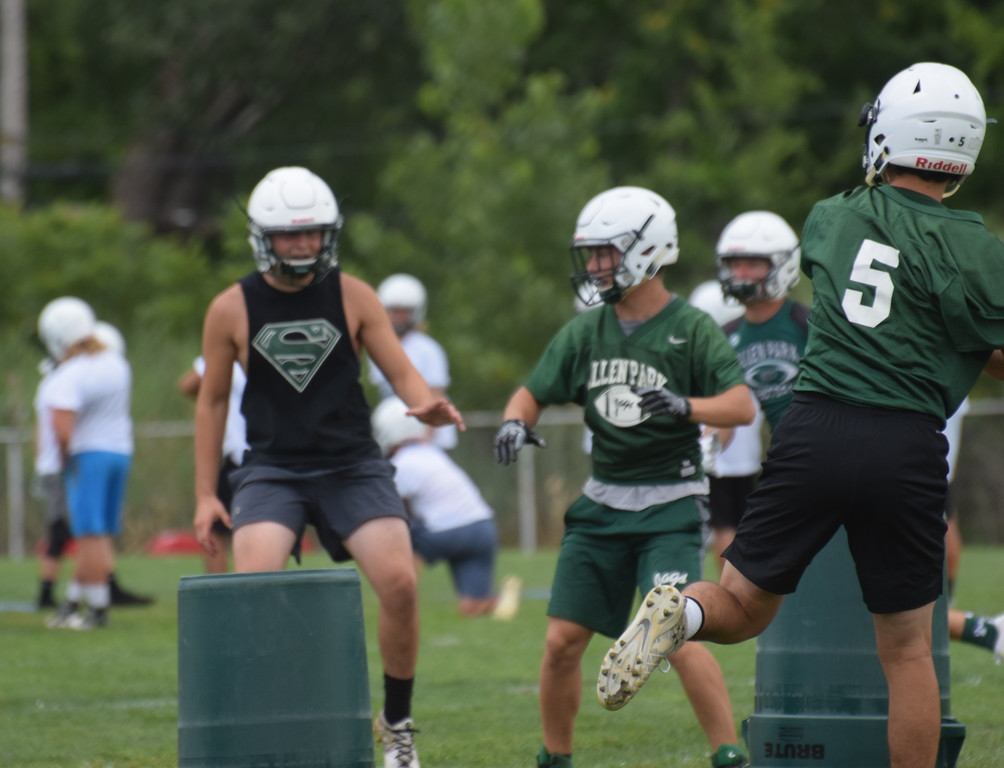 . Allen Park got back to work on Monday in what was the first day of high school football practice in the state of Michigan. The Jaguars are two-time defending league and district champions. (Photo Gallery by Frank Wladyslawski)