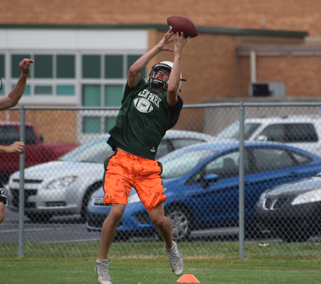 Allen Park got back to work on Monday in what was the first day of high school football practice in the state of Michigan. The Jaguars are two-time defending league and district champions. (Photo Gallery by Frank Wladyslawski)