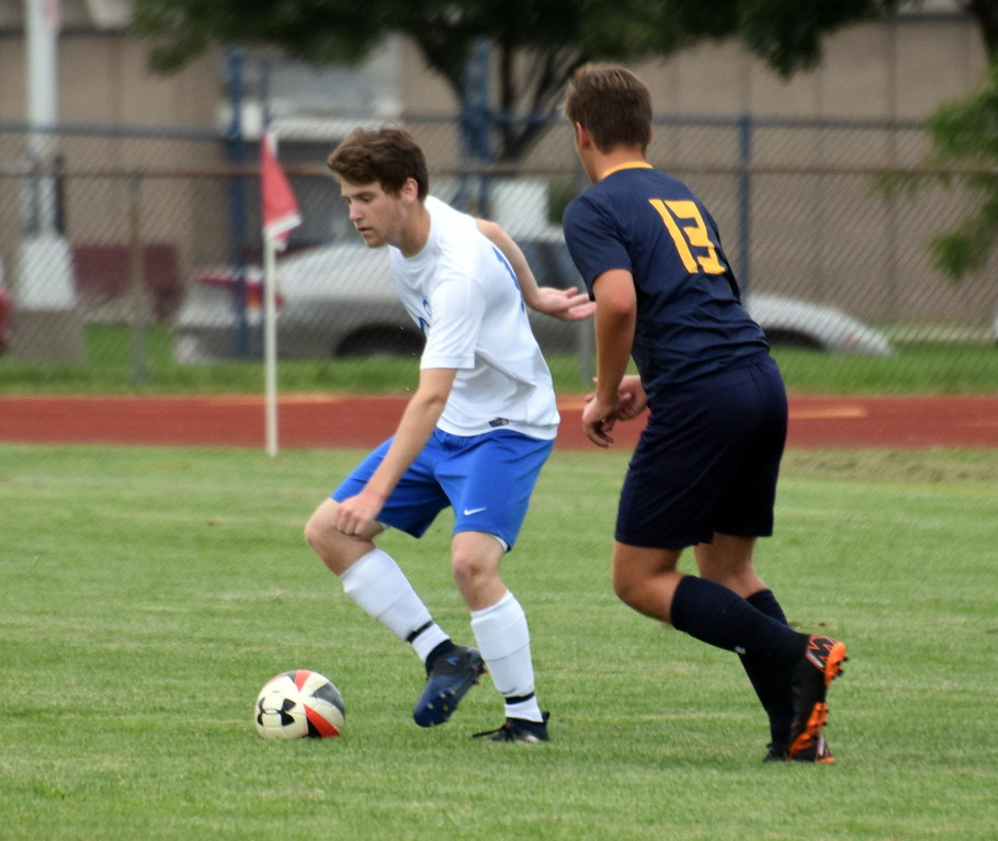 . Gibraltar Carlson kicked off the boys\' soccer Downriver League season with a 7-0 win over host Trenton on Monday night. Frank Wladyslawski - Digital First Media