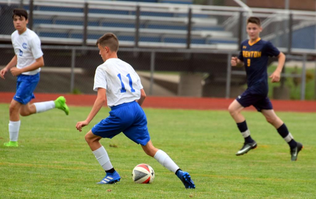. Gibraltar Carlson kicked off the boys\' soccer Downriver League season with a 7-0 win over host Trenton on Monday night. Frank Wladyslawski - Digital First Media
